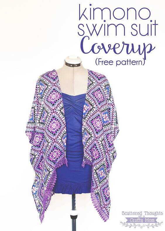Kimono swimwear coverup