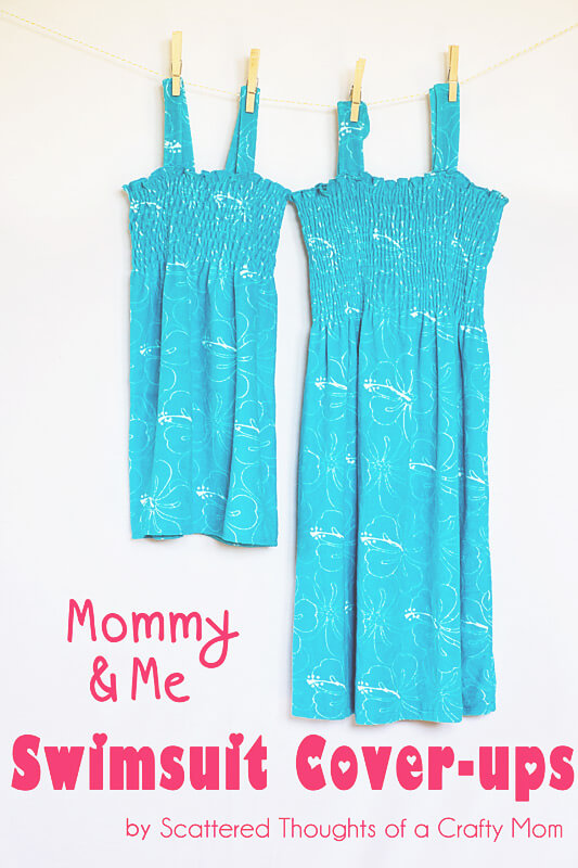 Mommy and me swimwear coverup